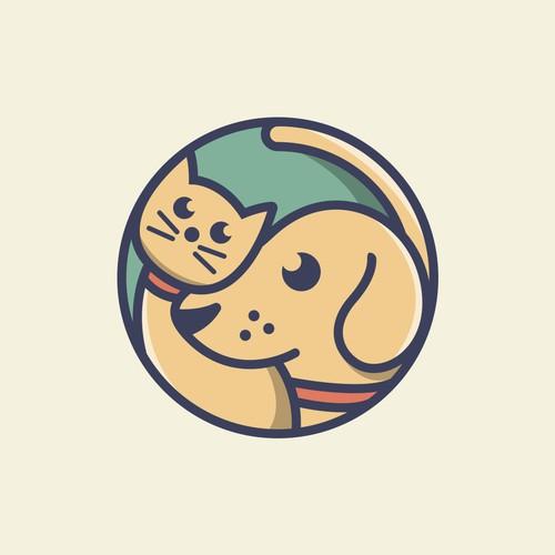 Cat & Dog Logo