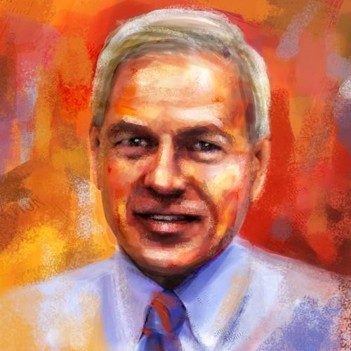 'Painted' look portrait