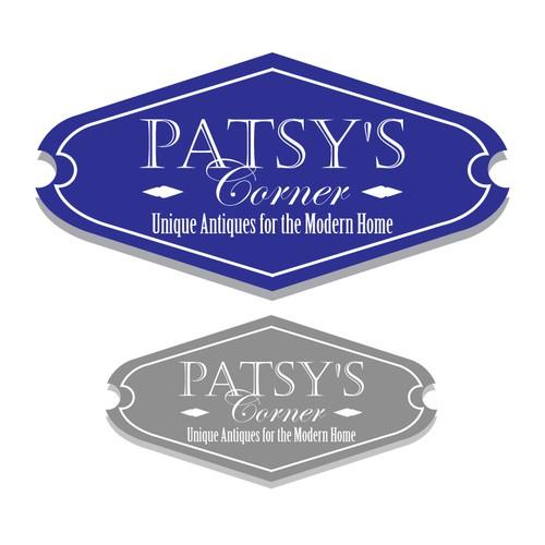 Simple elegant logo for Patsy's Antique shop