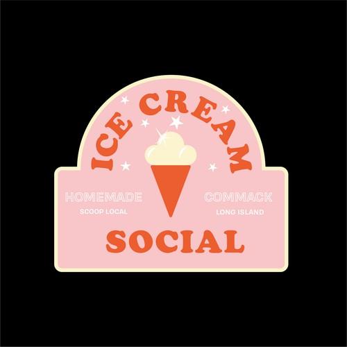Retro Logo for Ice Cream Shop