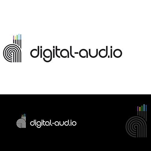Logo digital audio blog.