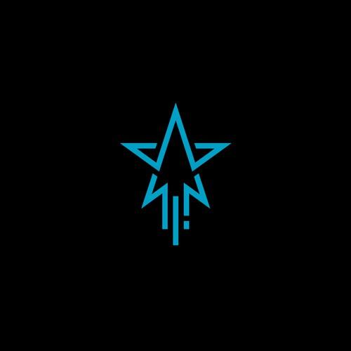 flat design concept for Star Rising brand