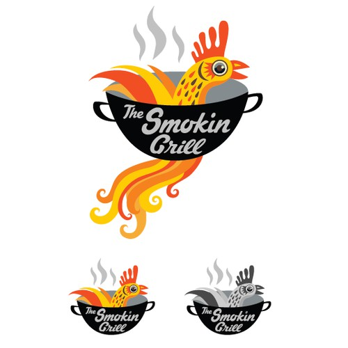 The Smokin Grill Logo Option 3