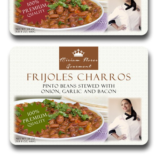 Product label for Frijoles