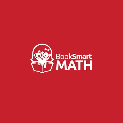 Modern Logo Booksmart Math