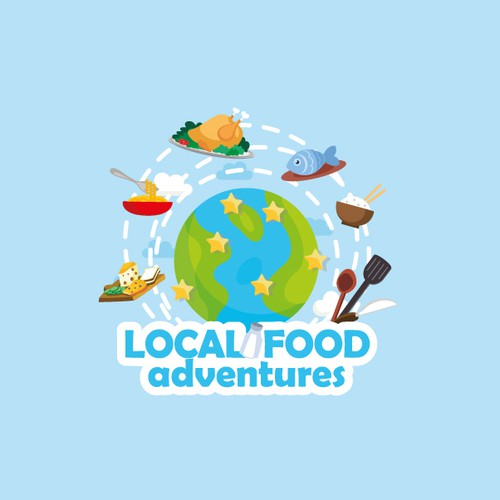 Logo concept for Local food adventures