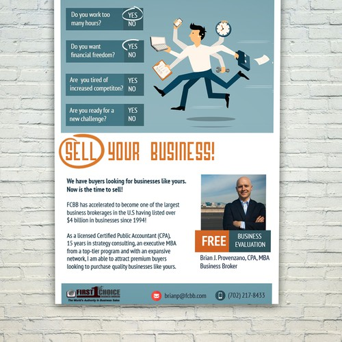 Direct Mail Flyer - Business broker