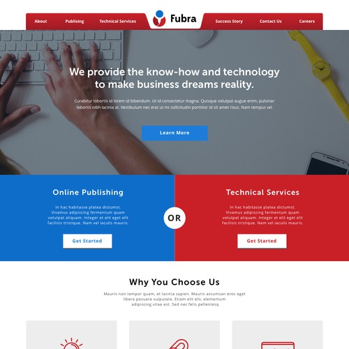 Landing Page Concept for Fubra