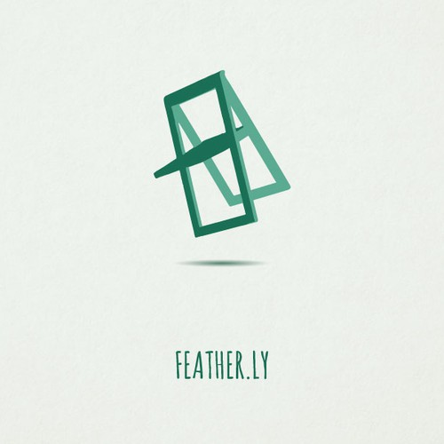 Create a logo for feather.ly -- a lightweight furniture company.
