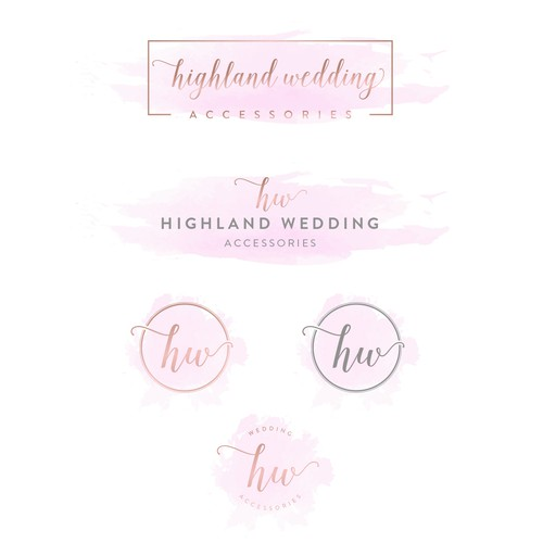 Logo concept for a wedding accessories company