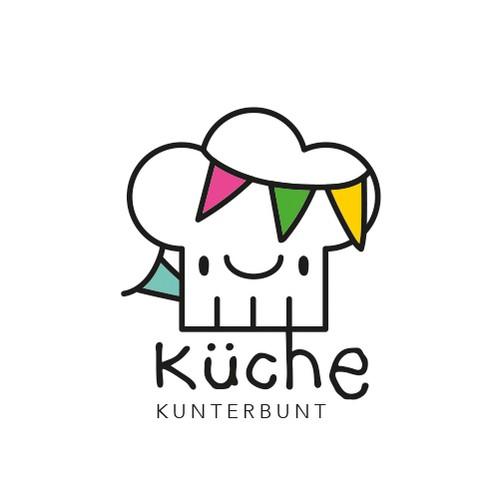 Küche Kunterbunt logo design