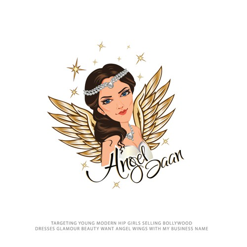 bold logo concept for Angel Jaan
