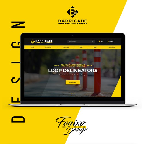 Barricade Depot, a traffic safety e-commerce.