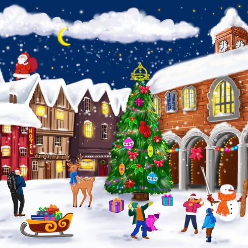 Christmas Scene Design