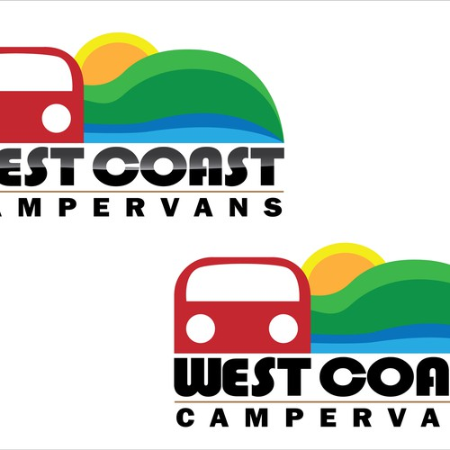 WEST COAST CAMPERVANS logo for new company !