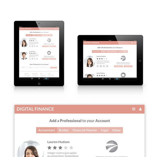 App design digital finance