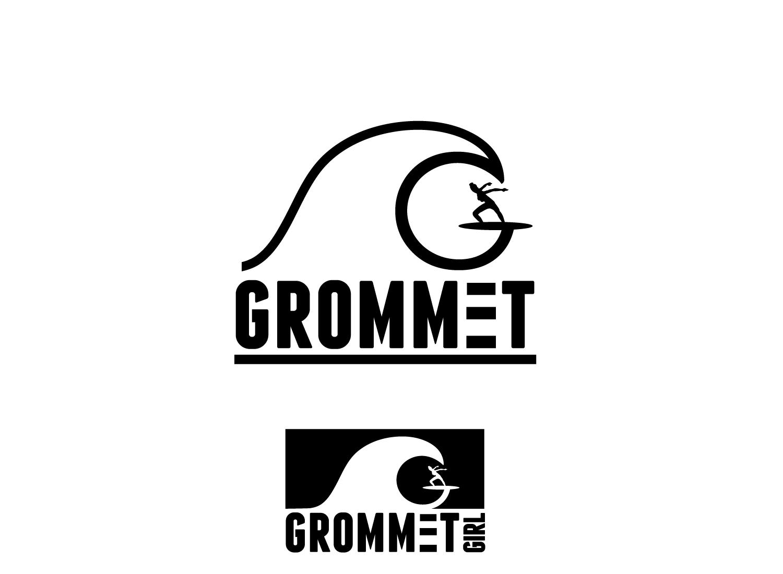 Create a surf/wave logo for Grommet girls t shirt