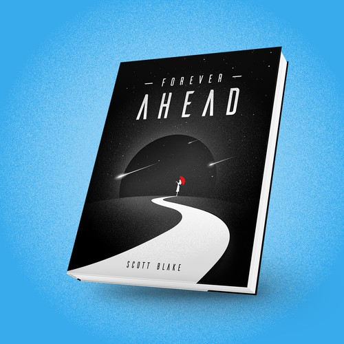 Scifi book cover for Forever Ahead, a transhumanist novel