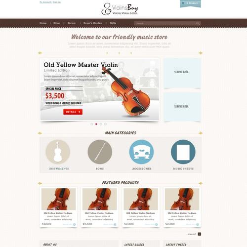 ViolinsBuy.com needs website design
