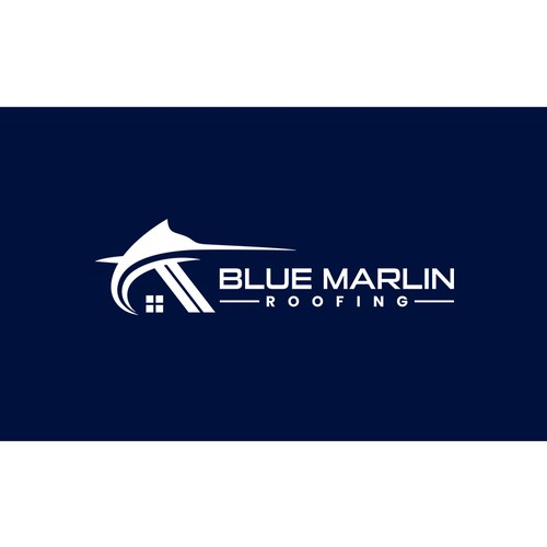 Blue Marlin Logo for Roofing Company