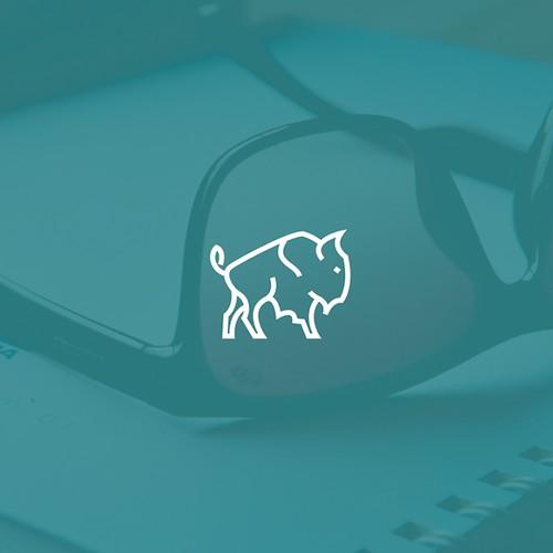 Line art bison