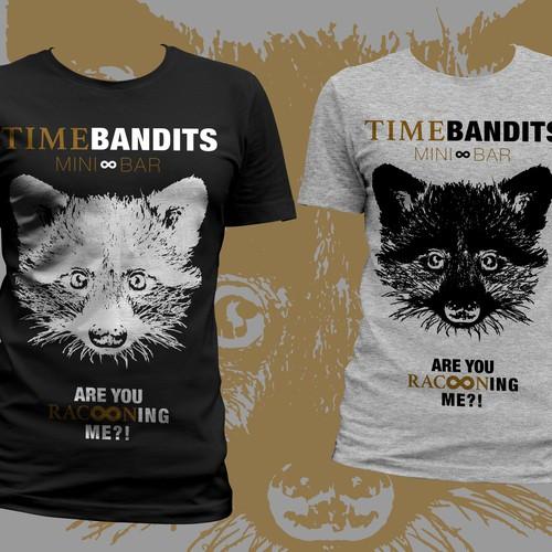 TimeBandits MiniBar braucht neue *** Uff *** Shirts ;-)
