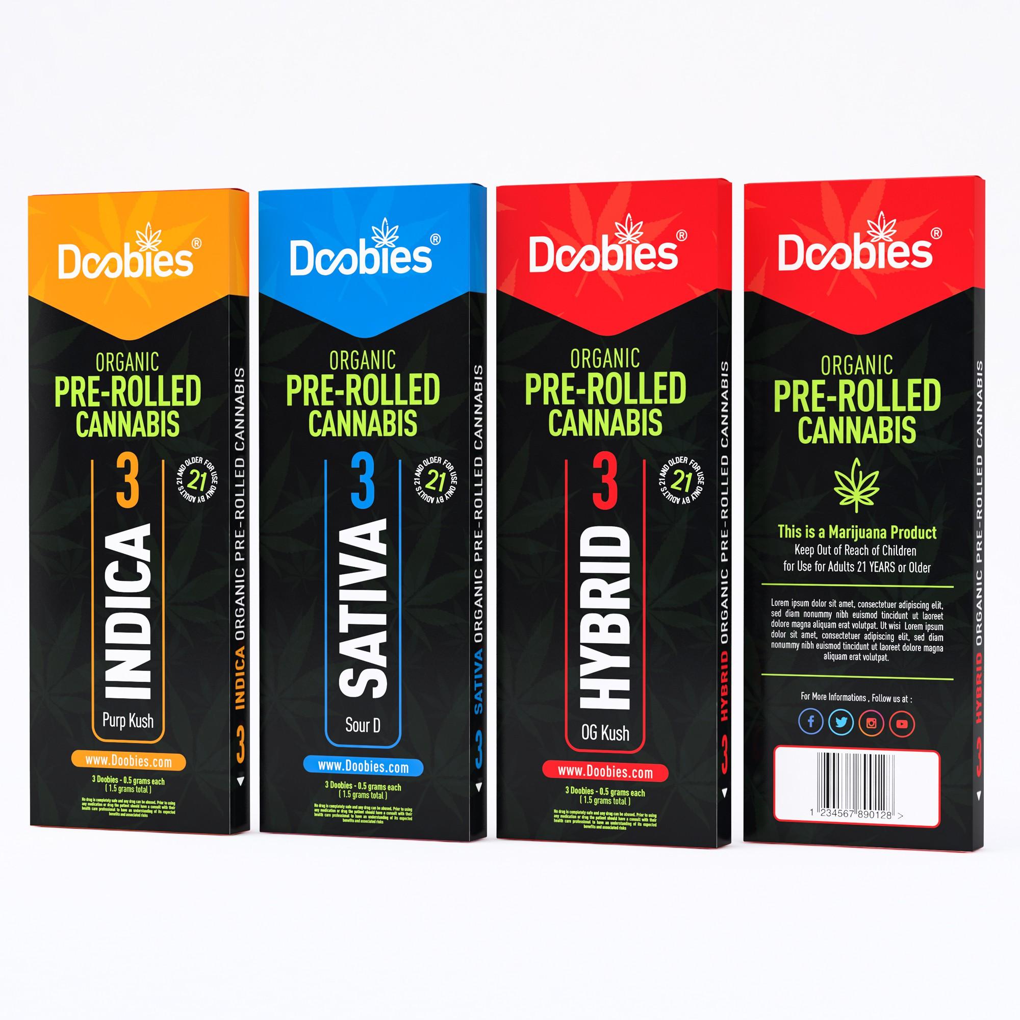 Doobies - Cannabis Doobies - Pre-rolled cannabis doobies