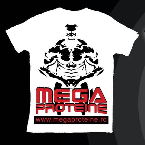 Bodybuilding t-shirt, MegaProteine