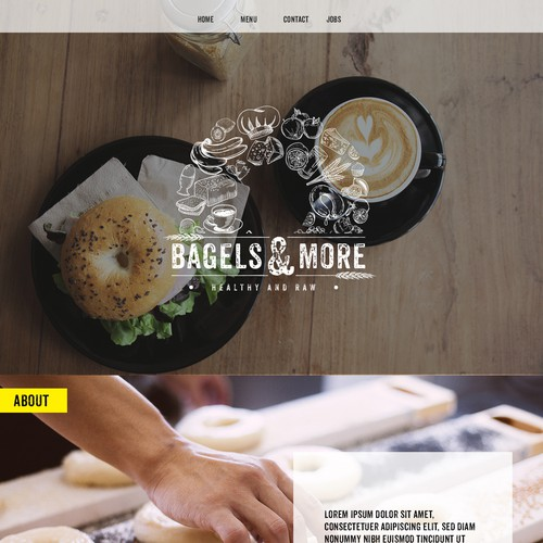Webpage design bagels & more