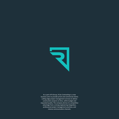 smart logo for r-zac contracting