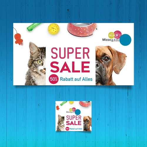 Banner-set for an online-shop for Dog & Cat accessories