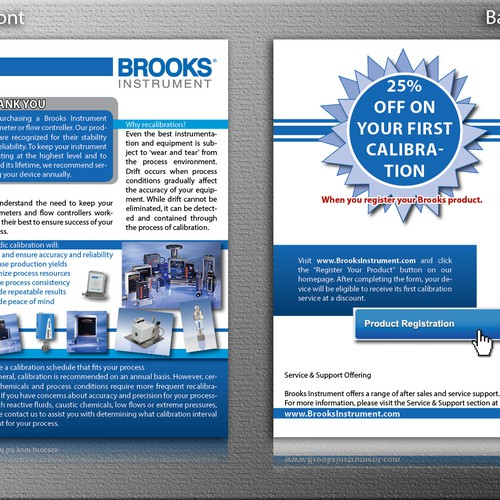 Create the next postcard or flyer for Brooks Instrument