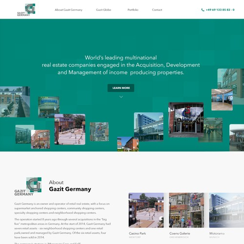 Landing Page Design Concept for Gazit Germany