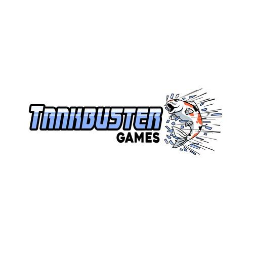 Logo fish for tank buster game developer