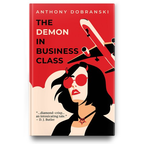 "Book cover for urban fantasy novel ""The Demon in Business Class"""