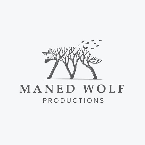 Logo concept for Maned Wolf Productions