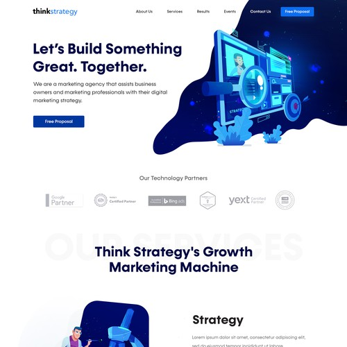 Clean and simple design for Think Strategy