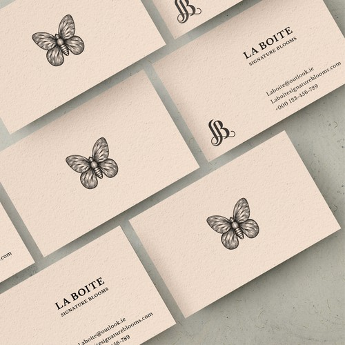 Shop Card design for LA BOITE Signature Blooms