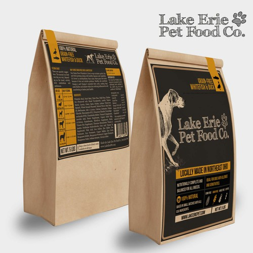 Lake Erie Pet Food Co. product labels front and back