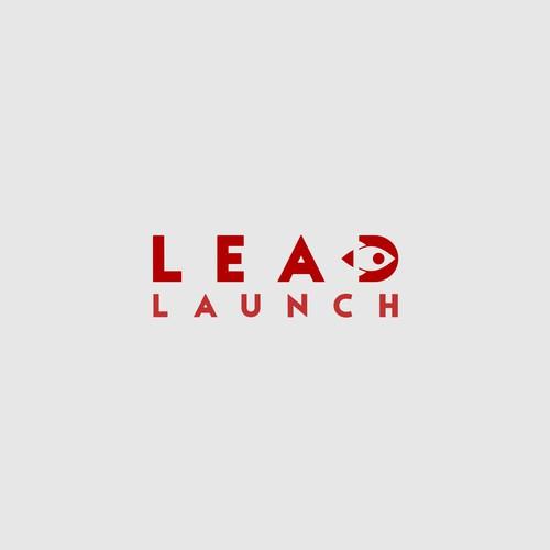 LEAD LAUNCH simple logo design