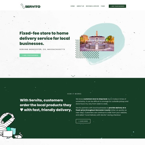 Squarespace design for delivery company