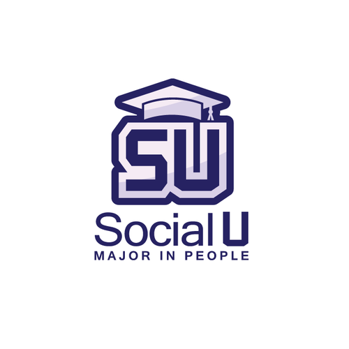 Iconic logo for an app SocialU