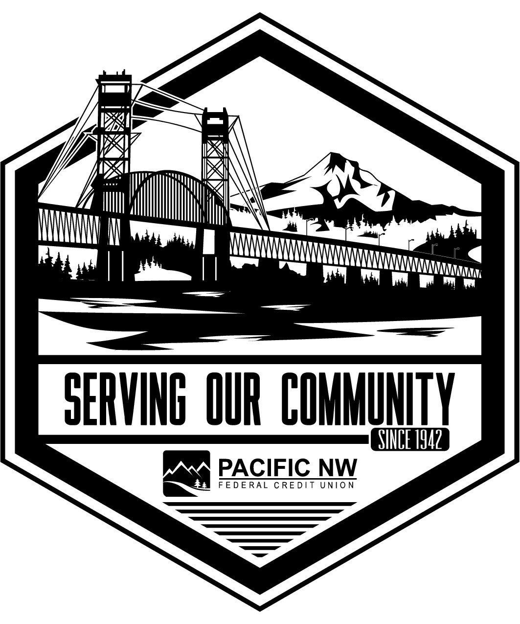 t-shirt for community-based financial institution in the great Pacific NW
