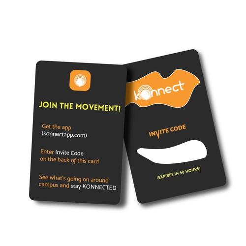 Mobile App Invite Card