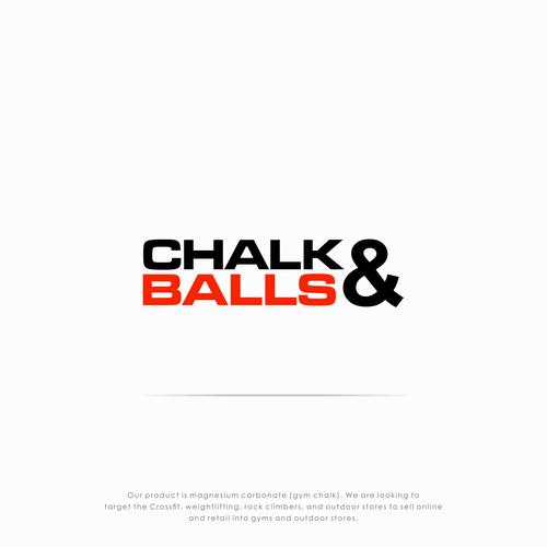Bold logo concept for gym chalk