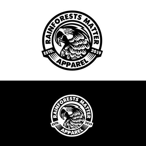 Rainforests matter apparel logo