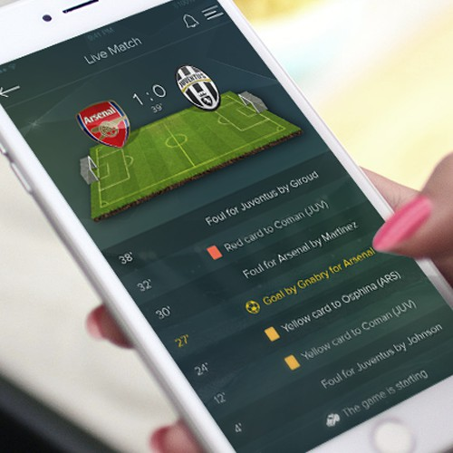 Design for football news application