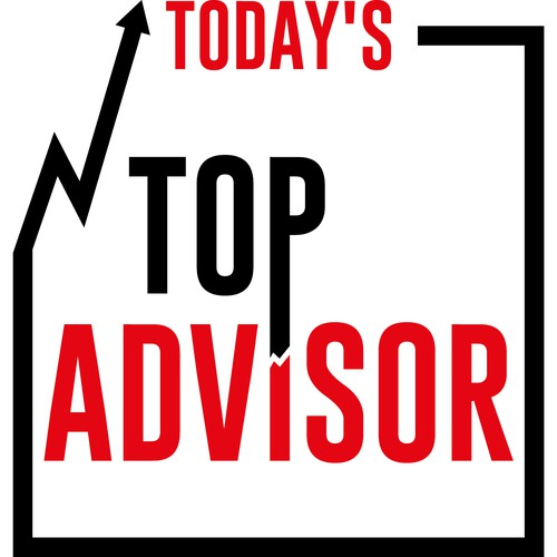 Today's Top Advisor - Simple and loud podcast logo that POPS