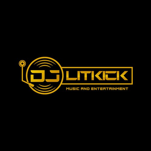 Bold and Cool Logo For DJ Litkick, Music and Entertainment