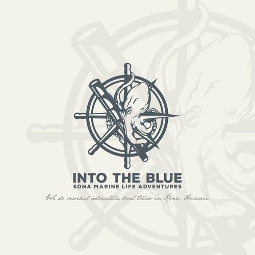 INTO THE BLUE logo concept